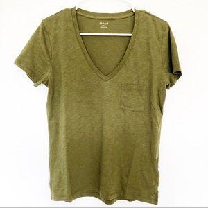 (NWT) Madewell | Whisper Cotton V Neck Tee Shirt
